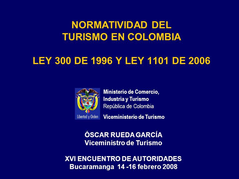 Ley 1101 de 2006 PARAFISCALIDAD Ley 300 de 1996: Agencias de Viajes, Hoteles y Restaurantes Turísticos: 2.5 por mil de los Ingresos Operacionales