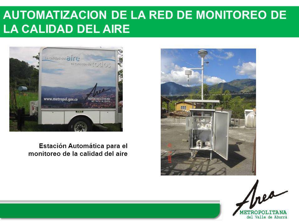 AUTOMATIZACION DE LA RED DE MONITOREO DE LA CALIDAD DEL AIRE Estación Automática para el monitoreo de la calidad del aire
