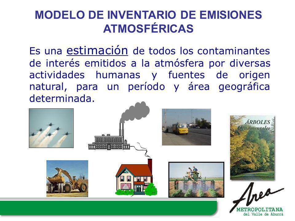 Es una estimación de todos los contaminantes de interés emitidos a la atmósfera por diversas actividades humanas y fuentes de origen natural, para un
