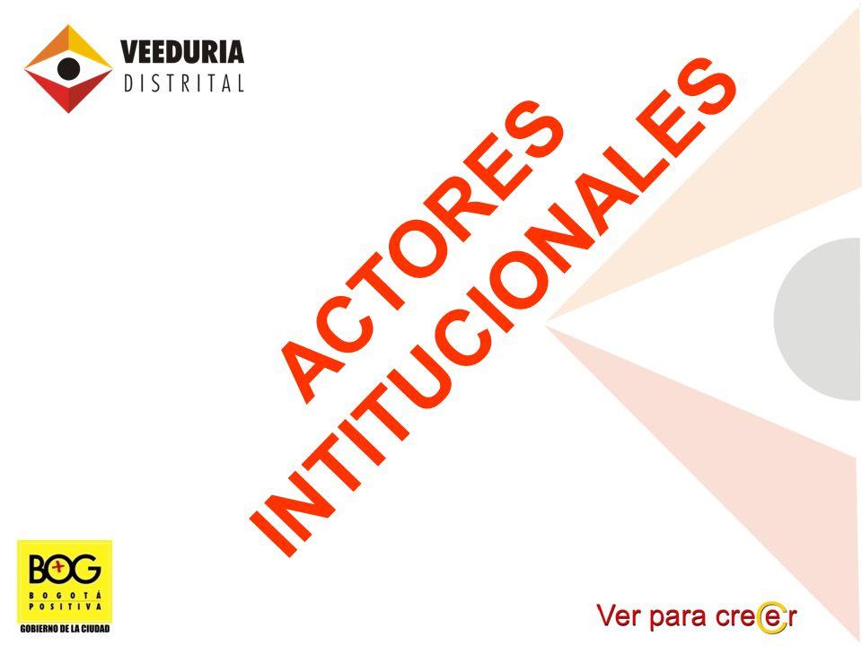 ACTORES INTITUCIONALES