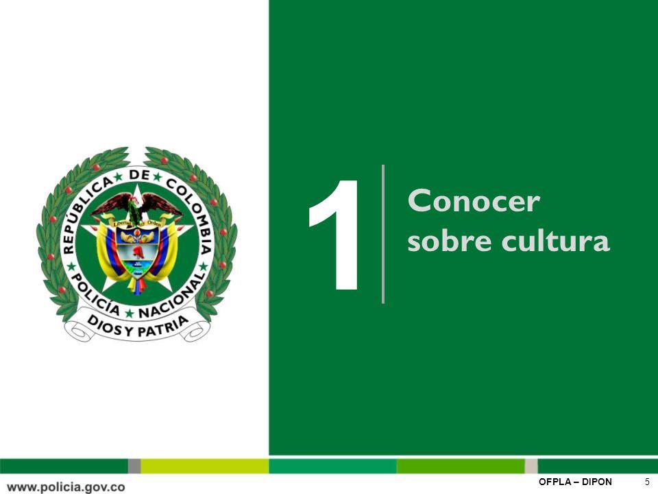 OFPLA – DIPON 16 Punto de partida para la movilización donde se plasma la génesis del recorrido emprendido como Institución hacia una cultura basada en el humanismo y en el fortalecimiento de la dignidad de ser policía, expresada en el uso responsable de la libertad, el respeto, el equilibrio del rol personal y profesional, el sentido de compromiso, felicidad y de unidad de servir a los colombianos.