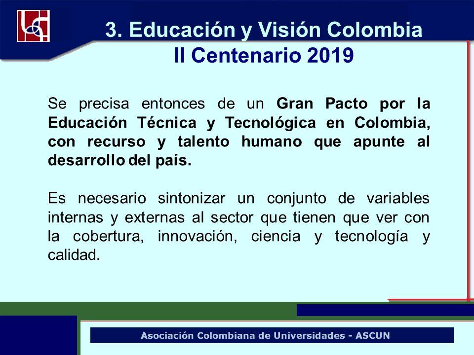Se precisa entonces de un Gran Pacto por la Educación Técnica y Tecnológica en Colombia, con recurso y talento humano que apunte al desarrollo del paí