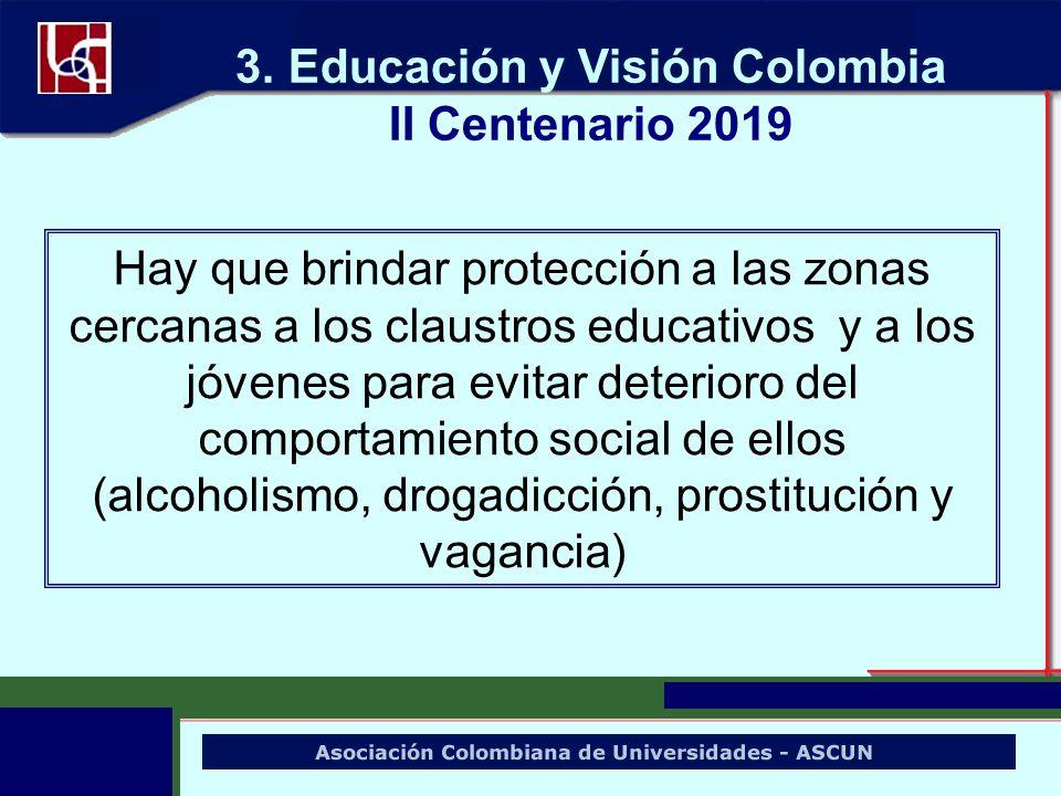 Hay que brindar protección a las zonas cercanas a los claustros educativos y a los jóvenes para evitar deterioro del comportamiento social de ellos (a