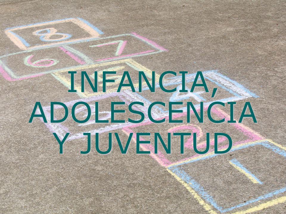 INFANCIA, ADOLESCENCIA Y JUVENTUD