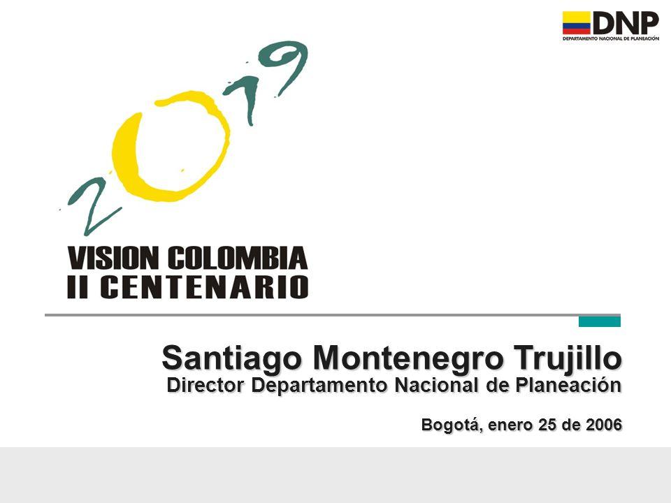 El 7 de agosto de 2019 es una fecha histórica y simbólicamente importante En 2019, Colombia cumple dos siglos de la Independencia Necesitamos una visión de cómo será y deberá ser el país en esa fecha: un propósito nacional La Visión Colombia II Centenario – 2019 debe ser una visión de Estado, no de gobierno Introducción