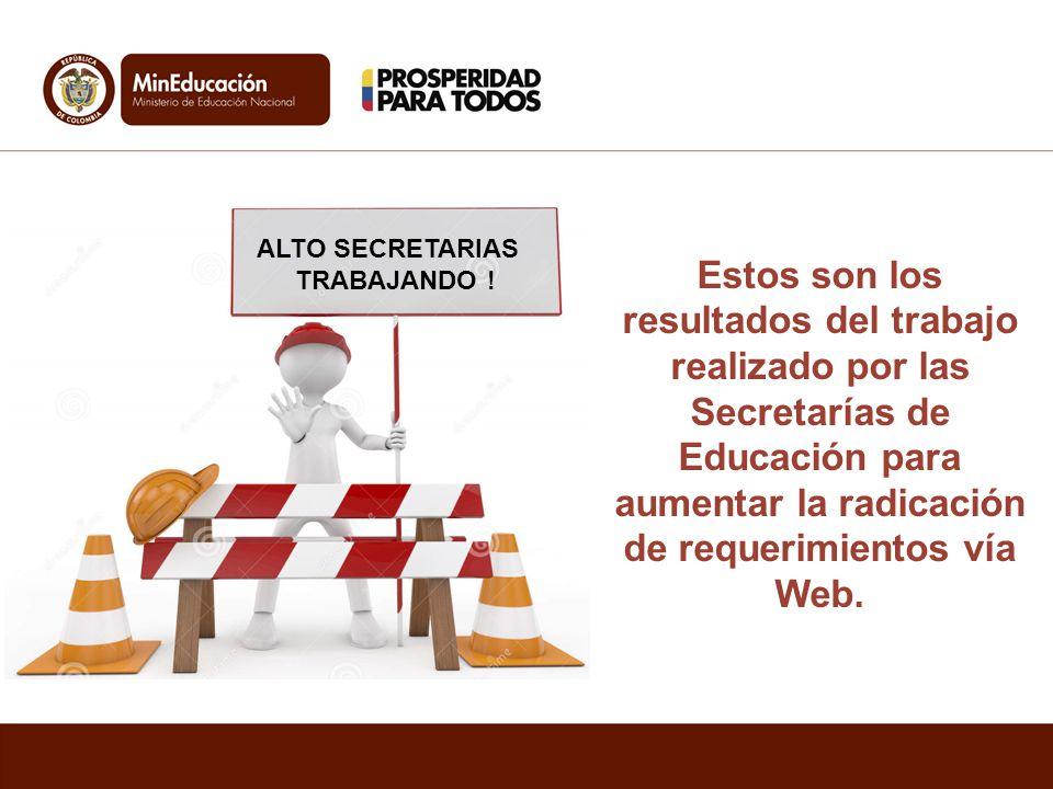 ALTO SECRETARIAS TRABAJANDO .