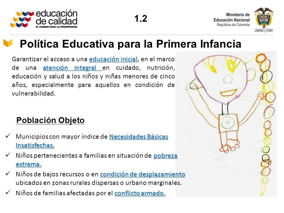 educación inicial atención integral Garantizar el acceso a una educación inicial, en el marco de una atención integral en cuidado, nutrición, educació