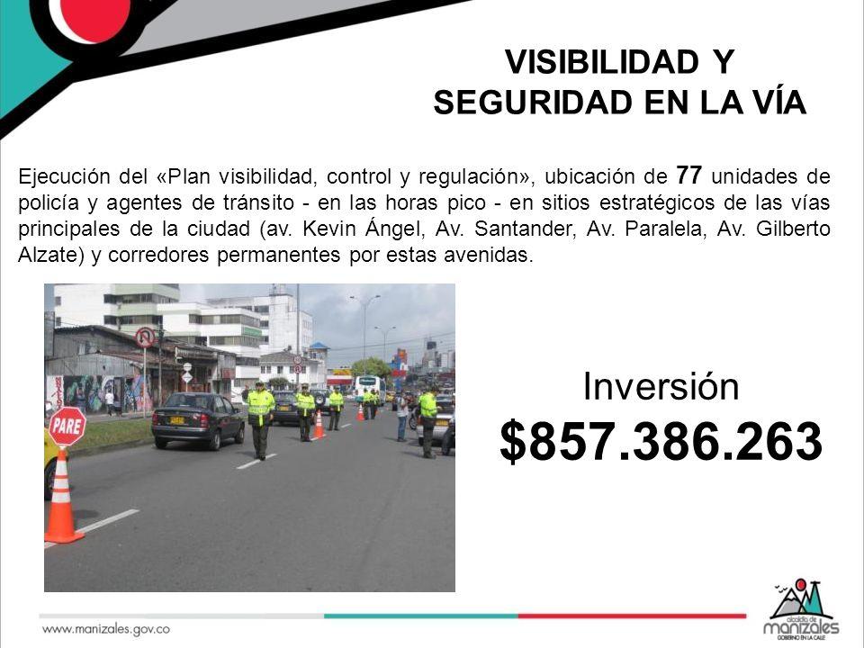VISIBILIDAD Y SEGURIDAD EN LA VÍA Ejecución del «Plan visibilidad, control y regulación», ubicación de 77 unidades de policía y agentes de tránsito -