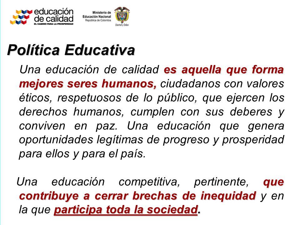 La educación de calidad es un propósito nacional.