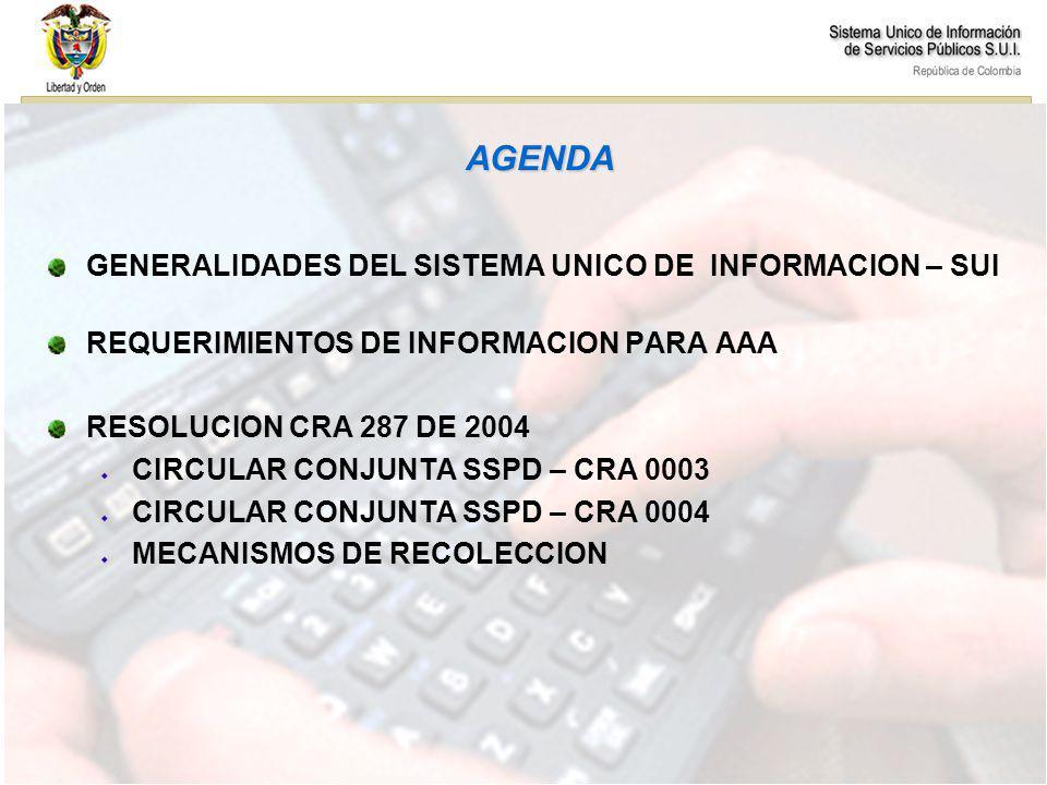Comisiones RECOLECCION DE INFORMACION AAA CIRCULAR CONJUNTA CRA – SSPD 0003 - 0004