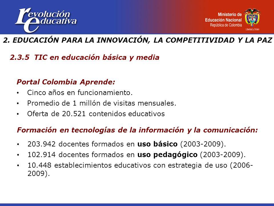 Portal Colombia Aprende: Cinco años en funcionamiento.