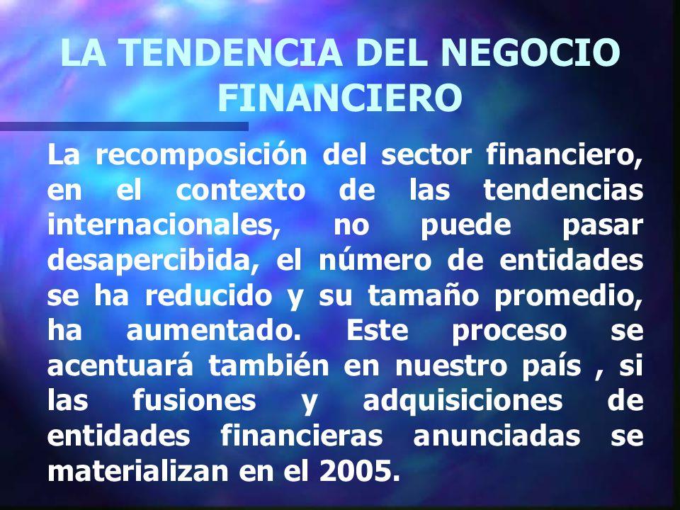 La recomposición del sector financiero, en el contexto de las tendencias internacionales, no puede pasar desapercibida, el número de entidades se ha reducido y su tamaño promedio, ha aumentado.