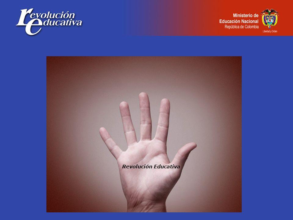 Fortalece la gestión de las Entidades Territoriales 85 Secretarías en proceso de modernización $102,400 millones de pesos Uso eficiente de los recursos Asignación de recursos per cápita en educación básica y media Sistema de estímulos al desempeño en las universidades públicas Información y la tecnología: claves de la gestión SINEB, SIMAT, SNIES, SACES, SPADIES Trámites en línea MEN, ICFES e ICETEX