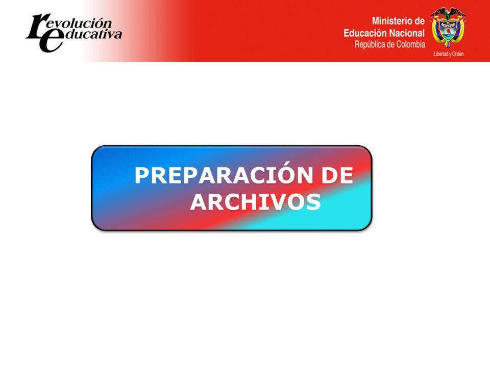 PREPARACIÓN DE ARCHIVOS PREPARACIÓN DE ARCHIVOS