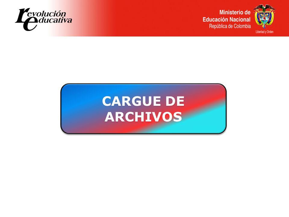 CARGUE DE ARCHIVOS CARGUE DE ARCHIVOS