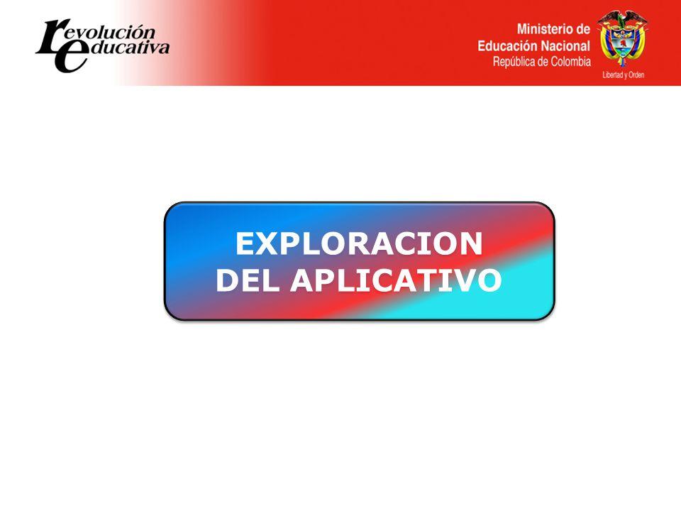 EXPLORACION DEL APLICATIVO EXPLORACION DEL APLICATIVO