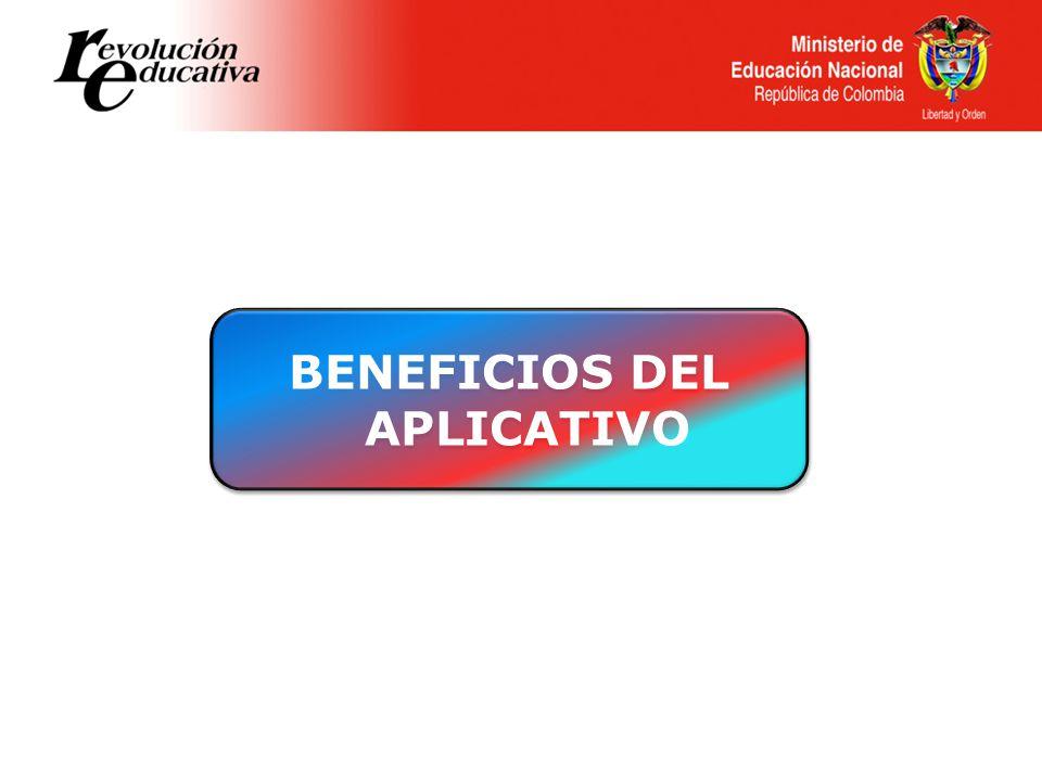 BENEFICIOS DEL APLICATIVO BENEFICIOS DEL APLICATIVO