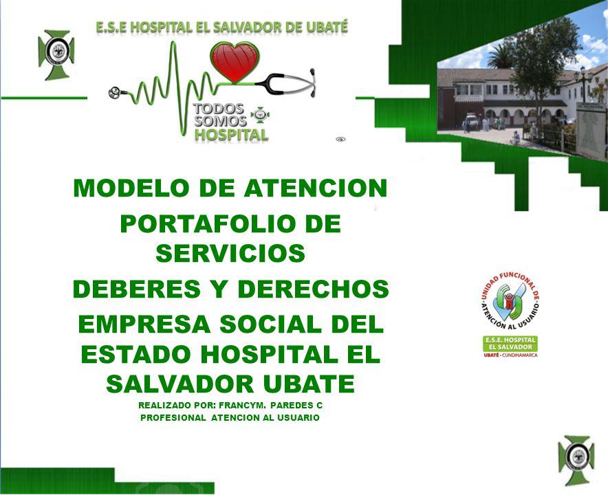 QUIEN SOMOS El Hospital El Salvador es una Institución Prestadora de Servicios de Salud, catalogada como segundo nivel de atención, con servicios de tercer nivel como lo es la Unidad de cuidados intensivos Neonatal y Pediátrica.