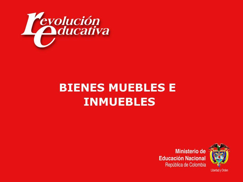 BIENES MUEBLES E INMUEBLES
