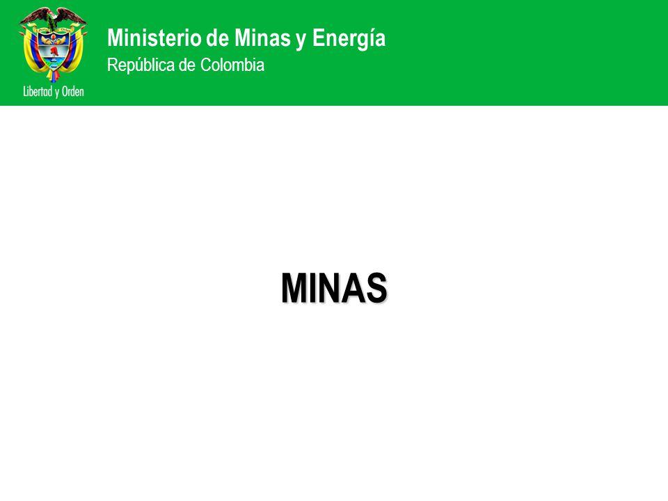 Ministerio de Minas y Energía República de Colombia MINAS