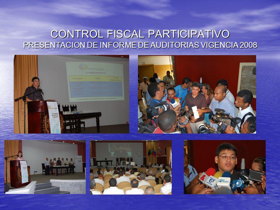 CONTROL FISCAL PARTICIPATIVO RENDICION DE CUENTAS A LA COMUNIDAD