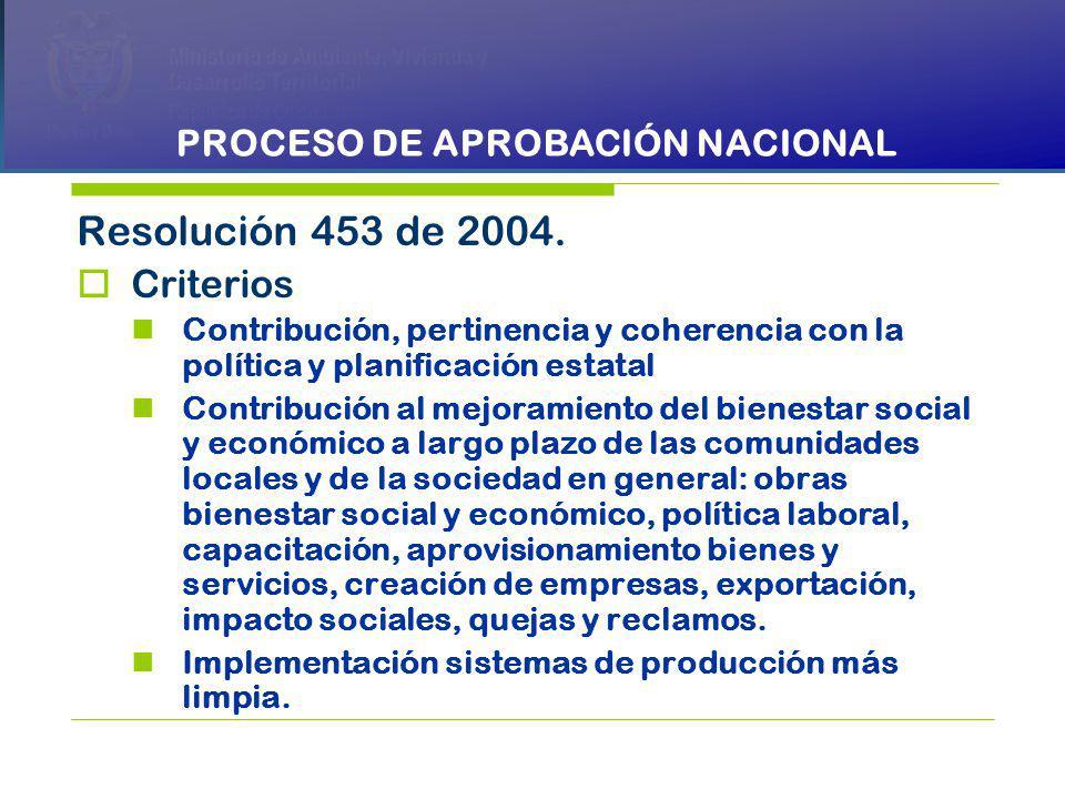 PRESIDENCIA DE LA REPÚBLICA Ministerio de Ambiente, Vivienda y Desarrollo Territorial Ministerio de Ambiente, Vivienda y Desarrollo Territorial República de Colombia Ministerio de Ambiente, Vivienda y Desarrollo Territorial República de Colombia Resolución 453 de 2004.