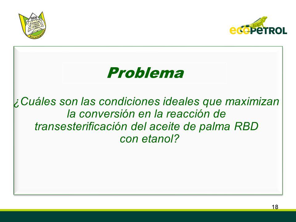 18 Convenio de Cooperación Tecnológica ECOPETROL S.A. ICP – INEM Custodio García Rovira de Bucaramanga Semillero de Investigación en Biocombustibles,