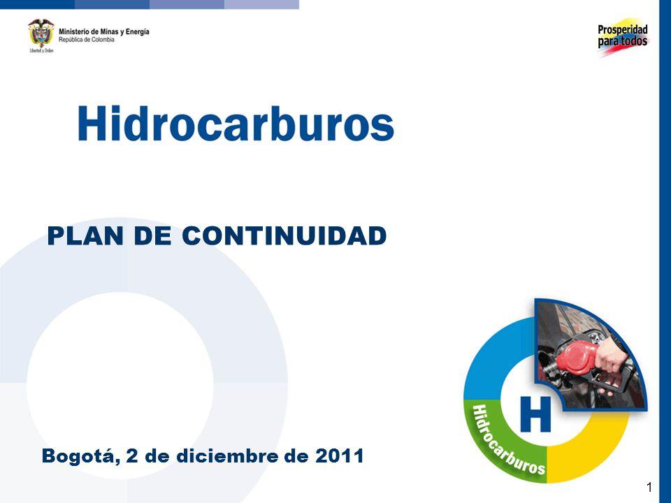 1 PLAN DE CONTINUIDAD Bogotá, 2 de diciembre de 2011