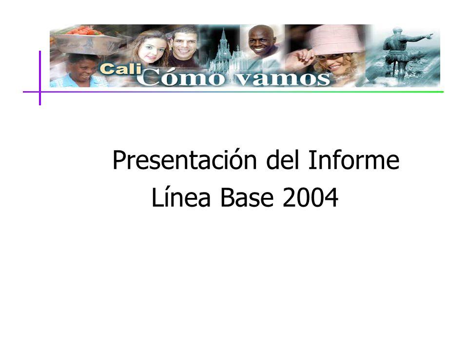 Presentación del Informe Línea Base 2004