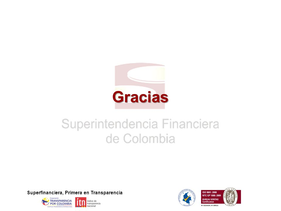 Superfinanciera, Primera en Transparencia Gracias
