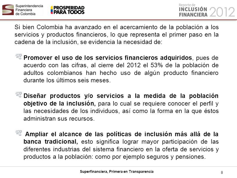 Superfinanciera, Primera en Transparencia Fortalecer la figura de corresponsales para que puedan ofrecer un portafolio más diverso de productos y servicios financieros.