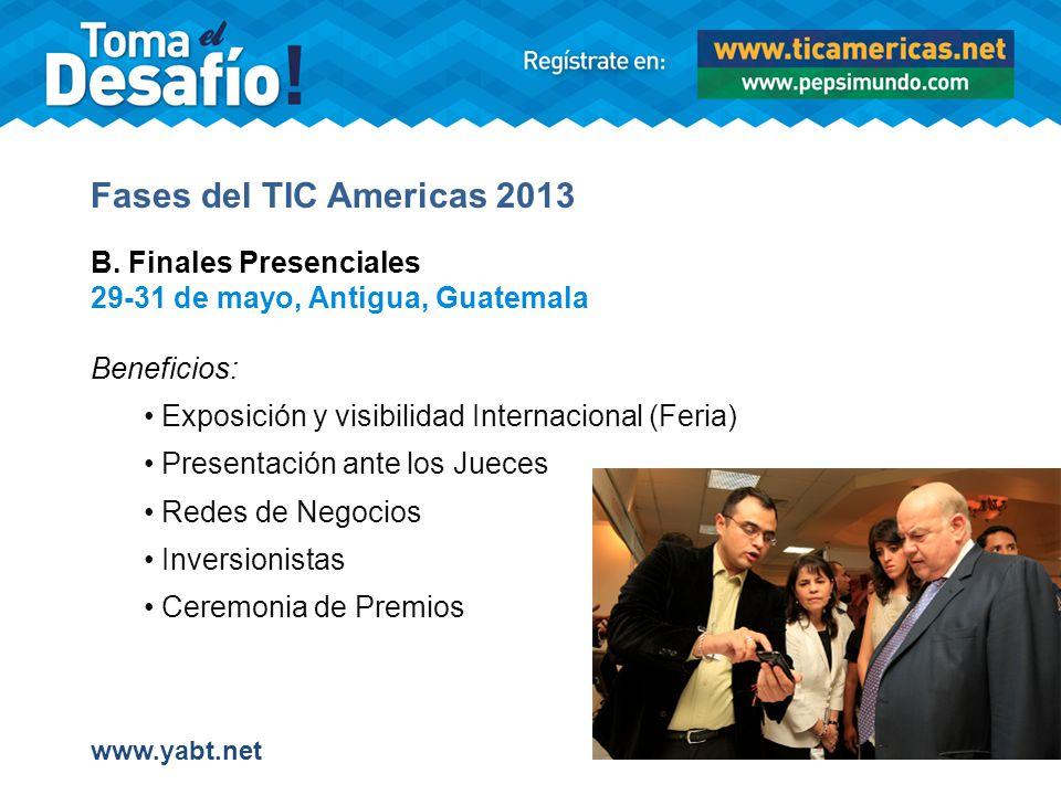 Fases del TIC Americas 2013 B.