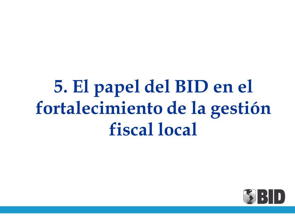 5. El papel del BID en el fortalecimiento de la gestión fiscal local