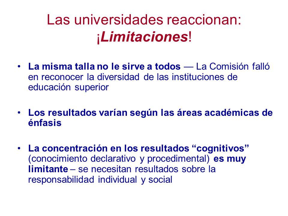 Las universidades reaccionan: ¡Limitaciones.