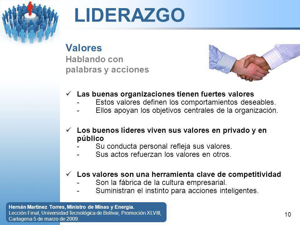 LIDERAZGO 10 Hernán Martínez Torres, Ministro de Minas y Energía.