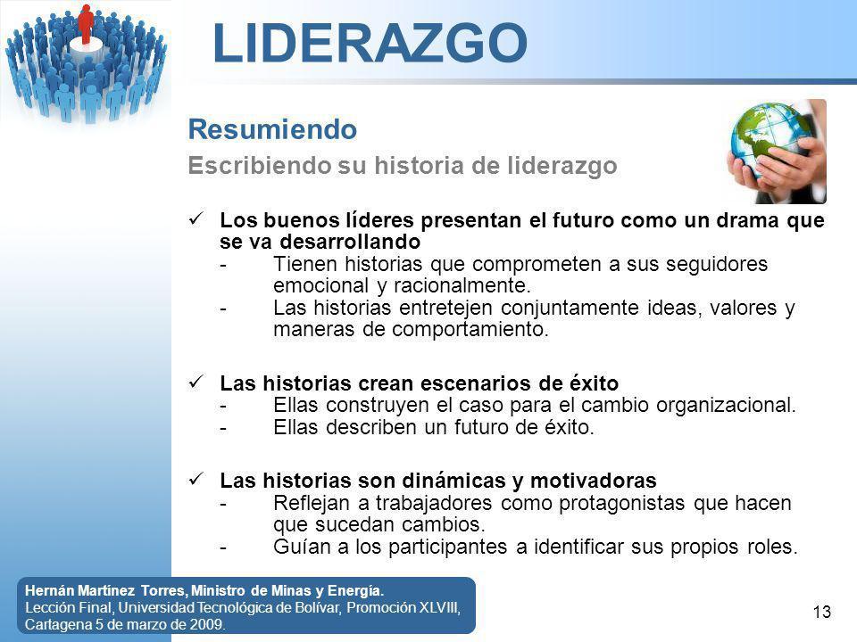 LIDERAZGO 13 Hernán Martínez Torres, Ministro de Minas y Energía.
