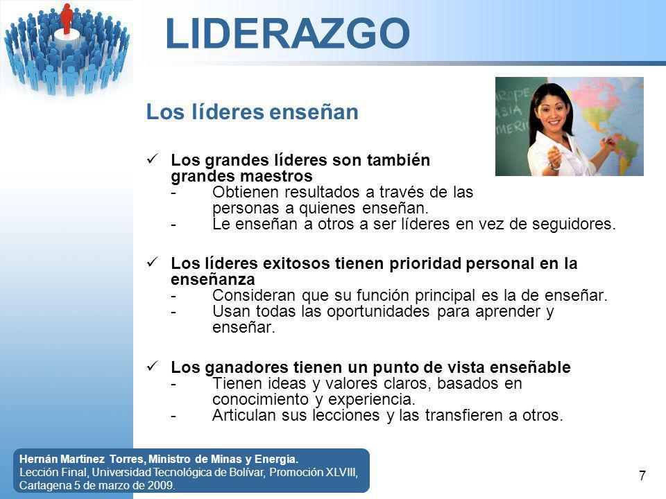 LIDERAZGO 8 Hernán Martínez Torres, Ministro de Minas y Energía.