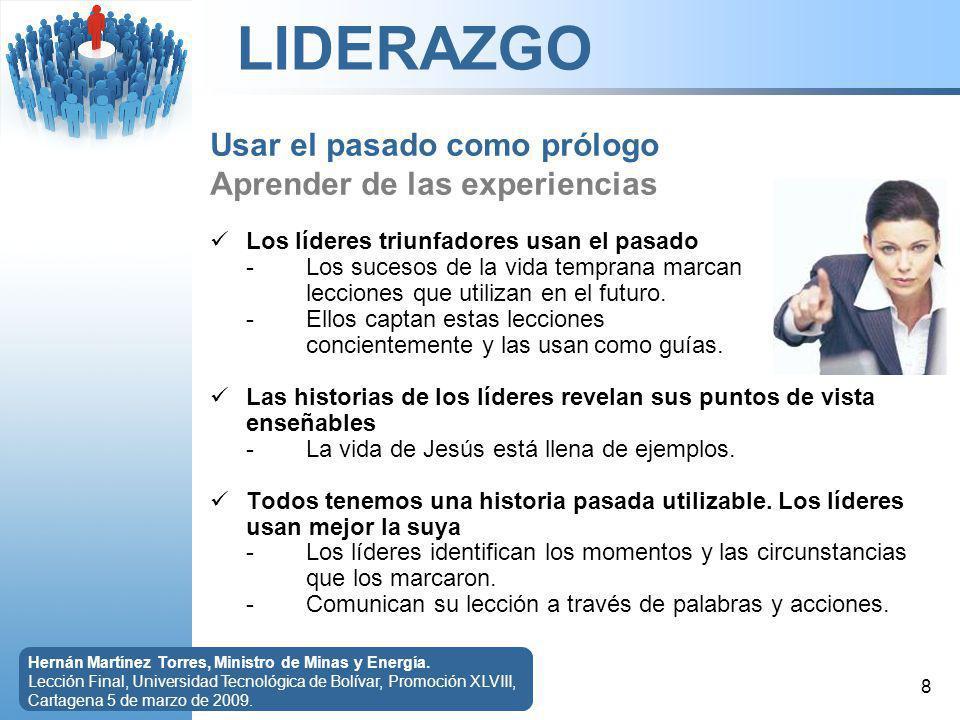 LIDERAZGO 9 Hernán Martínez Torres, Ministro de Minas y Energía.