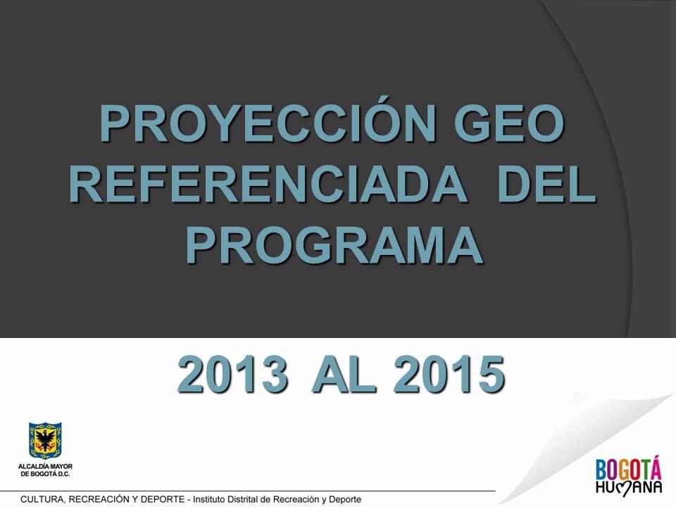 PROYECCIÓN GEO REFERENCIADA DEL PROGRAMA 2013 AL 2015