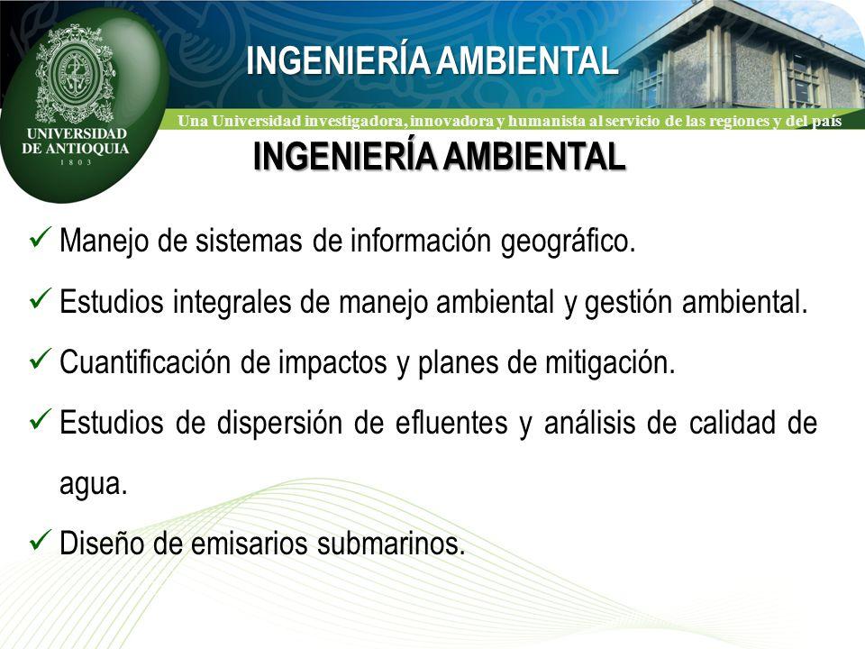 Una Universidad investigadora, innovadora y humanista al servicio de las regiones y del país Manejo de sistemas de información geográfico.
