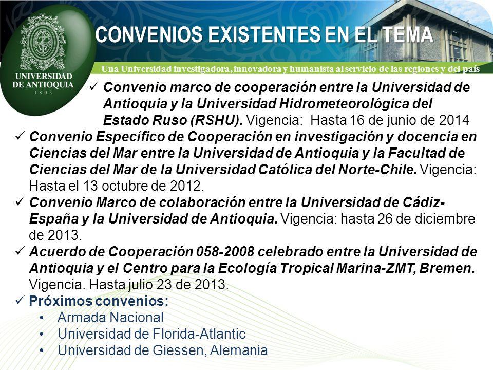 Una Universidad investigadora, innovadora y humanista al servicio de las regiones y del país Convenio marco de cooperación entre la Universidad de Antioquia y la Universidad Hidrometeorológica del Estado Ruso (RSHU).