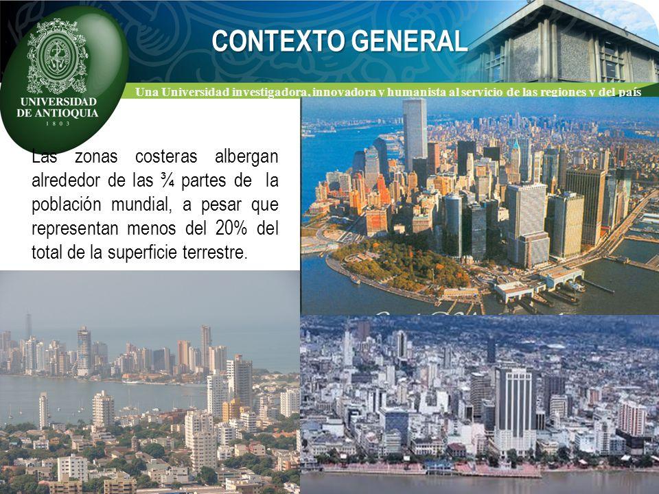 Una Universidad investigadora, innovadora y humanista al servicio de las regiones y del país LAS ZONAS COSTERAS Contienen los ecosistemas de mayor diversidad y productividad.
