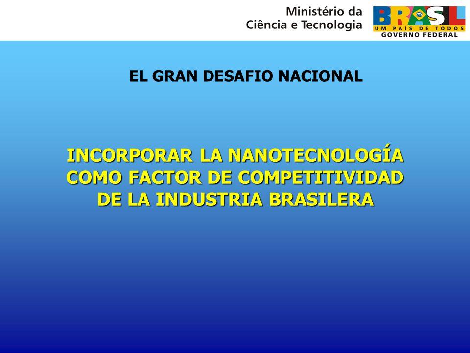 EL GRAN DESAFIO NACIONAL INCORPORAR LA NANOTECNOLOGÍA COMO FACTOR DE COMPETITIVIDAD DE LA INDUSTRIA BRASILERA
