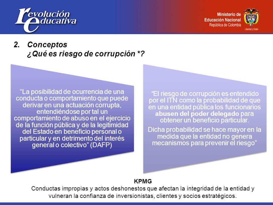 2.Conceptos ¿Qué es riesgo de corrupción *.