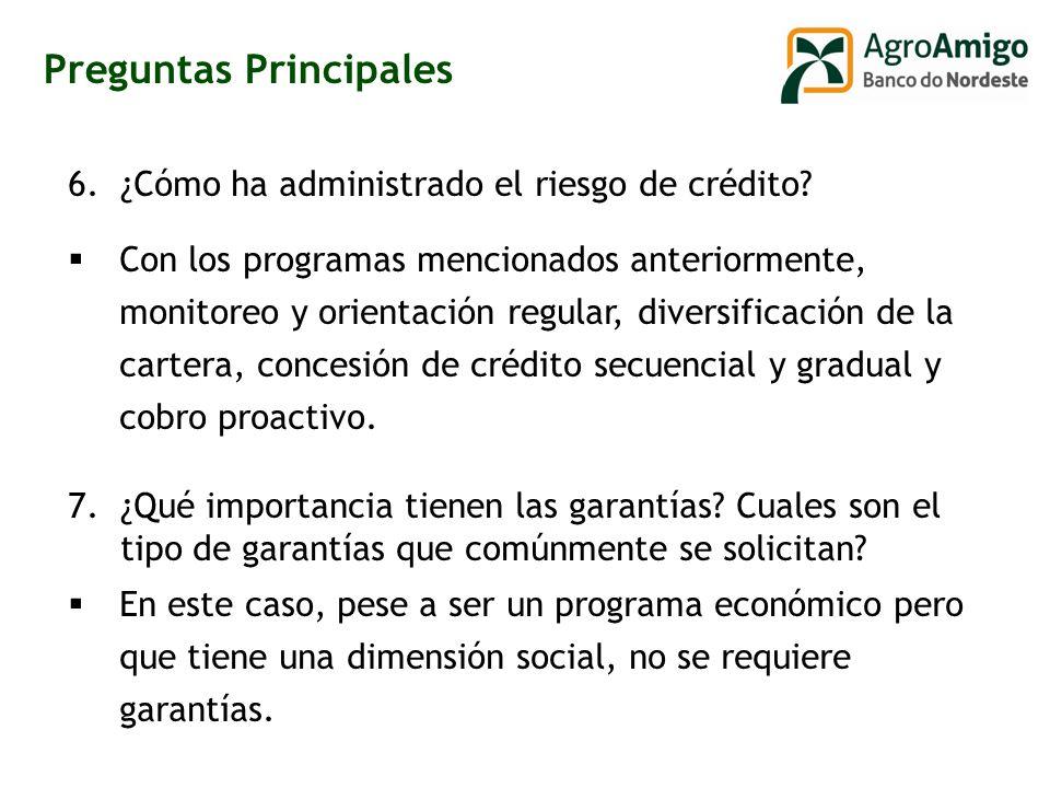 6.¿Cómo ha administrado el riesgo de crédito.