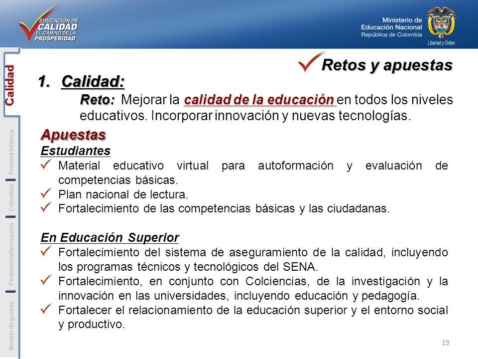 Apuestas Estudiantes Material educativo virtual para autoformación y evaluación de competencias básicas. Plan nacional de lectura. Fortalecimiento de