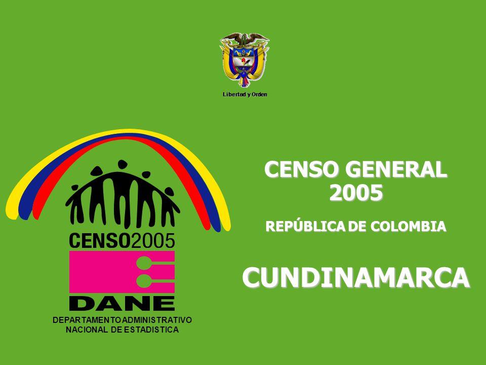 DEPARTAMENTO ADMINISTRATIVO NACIONAL DE ESTADISTICA5 Libertad y Orden DEPARTAMENTO ADMINISTRATIVO NACIONAL DE ESTADISTICA CENSO GENERAL 2005 REPÚBLICA DE COLOMBIA CUNDINAMARCA