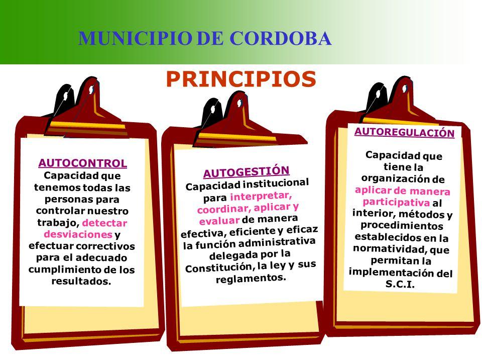MUNICIPIO DE CORDOBA IMPORTANCIA MEJORA EL DESEMPEÑO INSTITUCIONAL ESTANDARIZA EL LENGUAJE INSTITUCIONAL ES CONCEBIDO COMO UN MODELO DE GESTIÓN QUE PROPORCIONA LAS HERRAMIENTAS PARA LLEVAR A CABO EL TRABAJO DE MANERA IDÓNEA, TRANSPARENTE Y ÁGIL