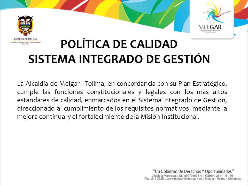 OBJETIVOS DEL SISTEMA INTEGRADO DE GESTIÓN (MECI- CALIDAD) 1.