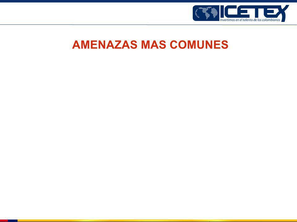 AMENAZAS MAS COMUNES